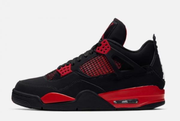 2021 Air Jordan 4 Red Thunder Basketball Shoes CT8527-016