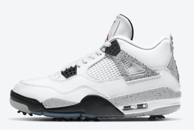 2021 Air Jordan 4s Golf White Cement in Mens Sizing CU9981-100