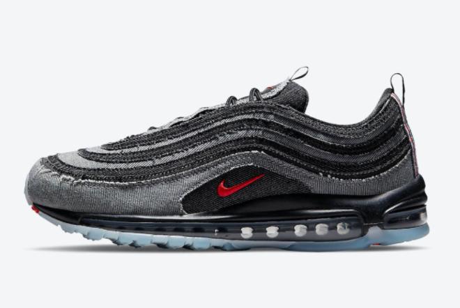 2021 Cheap Nike Air Max 97 Denim Dark Smoke Grey/Vast Grey DJ4643-070