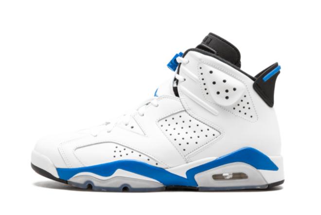 2021 New Air Jordan 6 Retro Sport Blue Blue and White 384664-107