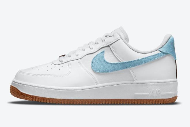 2021 Nike AF1 Air Force 1 '07 Low Indigo Fashion Shoes CZ0338-100