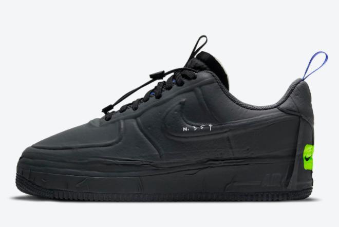 2021 Nike Air Force 1 Experimental Black Training Shoes CV1754-001