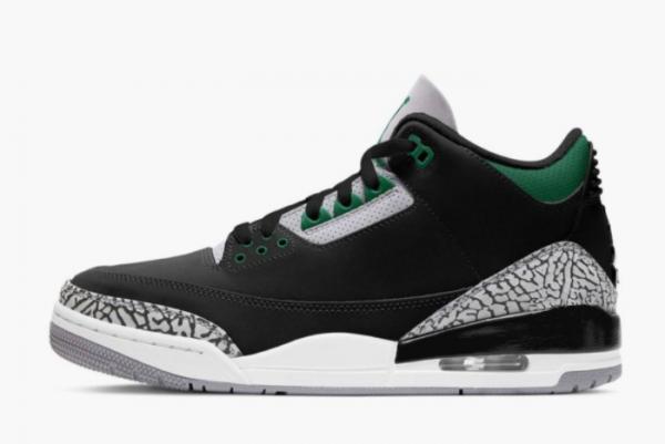 2021 Nike Air Jordan 3 Pine Green Basketball Shoes