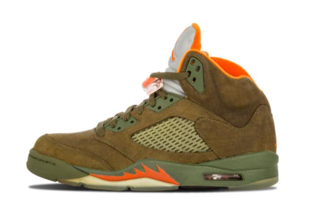 Air Jordan 5 Retro LS Olive Outlet Online 314259-381