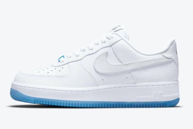 2021 Cheap Nike Air Force 1 Low UV White University Blue DA8301-101