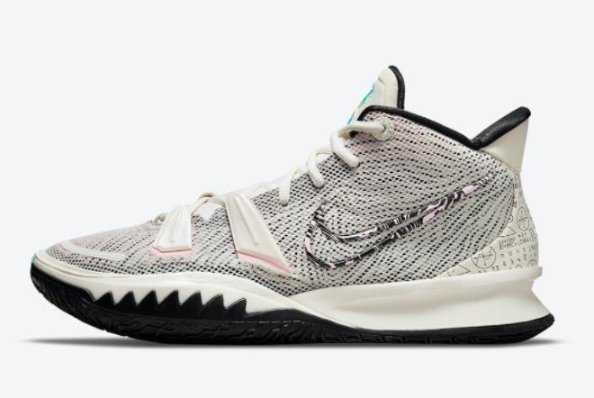 2021 Cheap Nike Kyrie 7 Pale Ivory Basketball Shoes CZ0141-100
