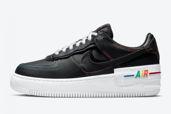 2021 Nike Air Force 1 Shadow Multi Stitch On Sale DJ5998-001