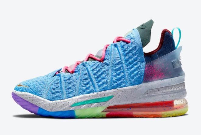 Buy Nike LeBron 18 What The University Blue Multi-Color DM2813-400