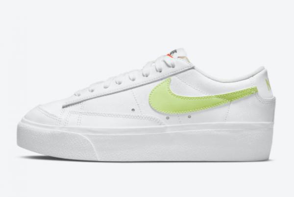 Cheap Womens Nike Blazer Low Platform Lemon Twist DJ0292-102
