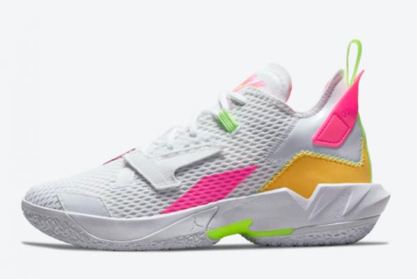 Jordan Why Not Zer0.4 White Pink-Volt-Orange Outlet Online CQ4230-102