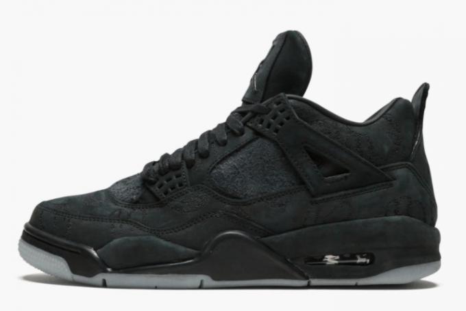 KAWS x Air Jordan 4 Retro Black Shoes To Buy 930155-001