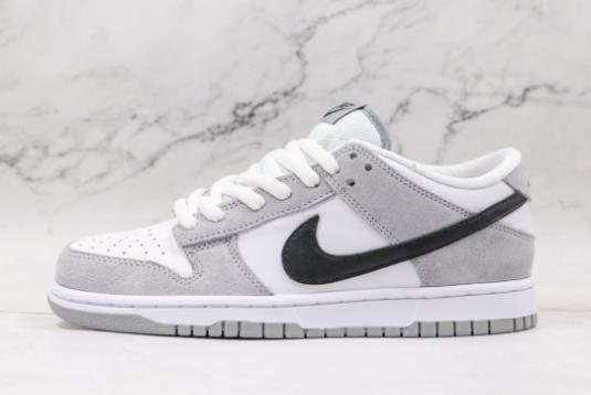 Nike SB Zoom Dunk Low Pro White Grey Black Sale For Men 854866-012