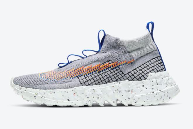 Nike Space Hippie 02 Volt Grey Orange Casual Shoes CQ3988-003