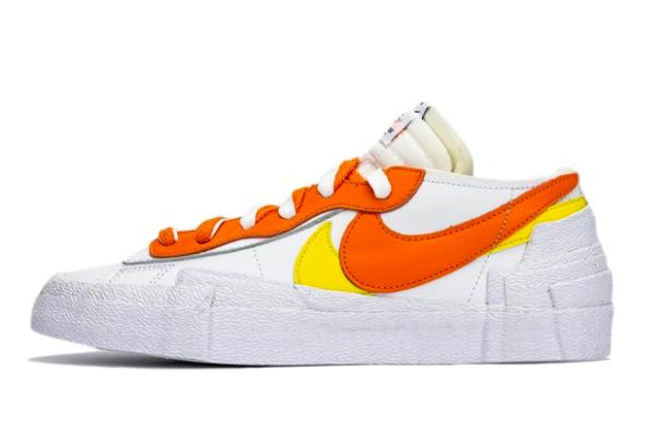 Sacai x Nike Blazer Low White/Magma Orange Outlet Online DD1877-100