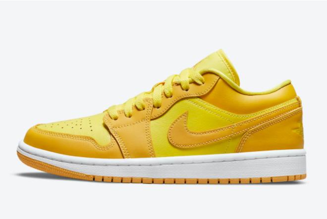 2021 Air Jordan 1 Low Sunny Yellow For Men Women DC0774-700