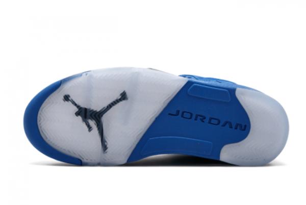 Air Jordan 5 Blue Suede Heel 136027-401