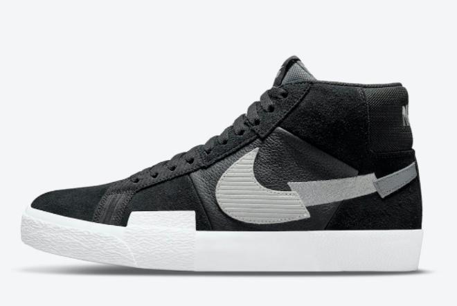 New Nike SB Blazer Mid Mosaic Pack Black White Shoes DA8854-001