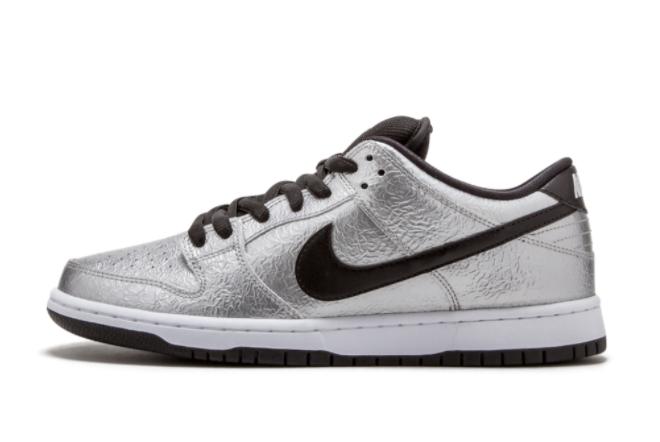 Nike SB Dunk Low Pro Cold Pizza Metallic Silver White Black Sale 313170-024