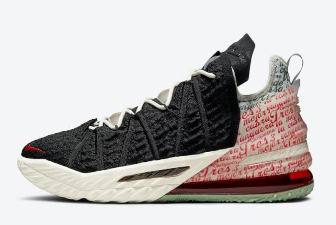 2021 Best Selling Nike LeBron 18 Goat Black Pale Ivory CQ9283-008