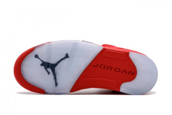 2021 Cheap Air Jordan 5 Retro Red Suede 136027-602-2