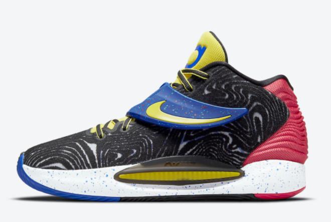 2021 Cheap Nike KD 14 Fusion Red Yellow Strike CW3935-004