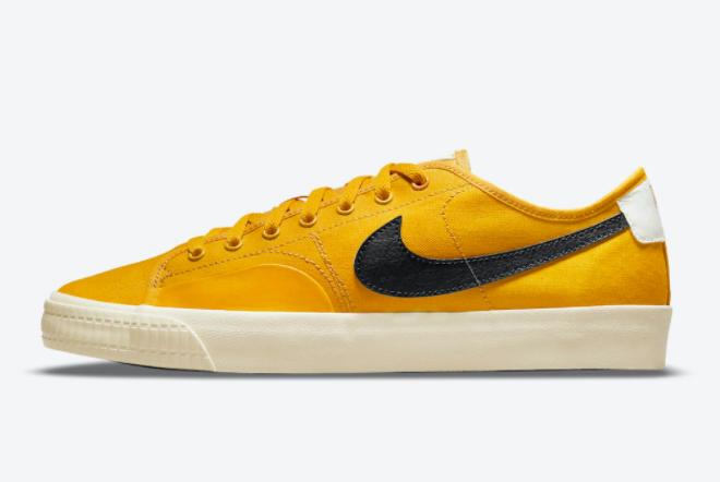 2021 Cheap Nike SB BLZR Court DVDL Yellow Black CZ5605-700