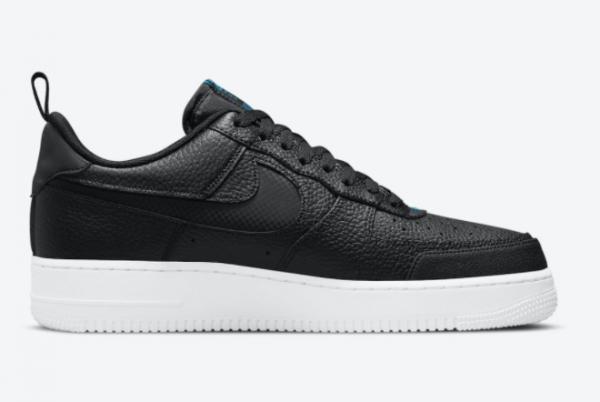 2021 Nike AF1 Air Force 1 Low Black Blue Trainers DN4433-002-1