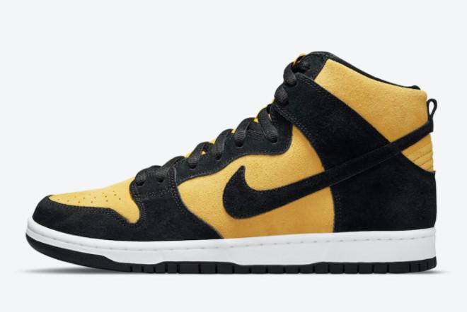 2021 Nike SB Dunk High Reverse Iowa Sneakers On Sale DB1640-001