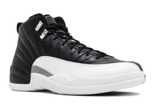 2022 Air Jordan 12 Playoffs Black White-True Red Shoes-2
