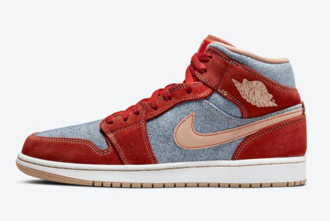 2022 Latest Air Jordan 1 Mid Denim Shoes DM4352-600
