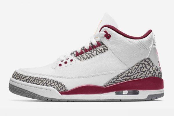 2022 New Air Jordan 3 Cardinal Basketball Shoes CT8532-126