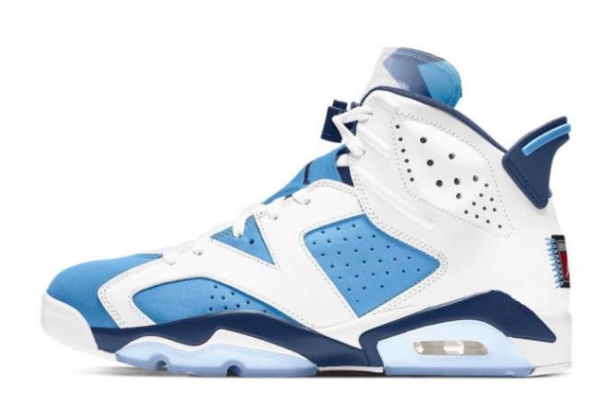 2022 Release Air Jordan 6 UNC White/University Blue-Obsidian Shoes