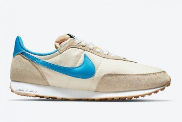 Cheap Nike Waffle Trainer 2 Shoe Dog White Blue DA2315-200-1