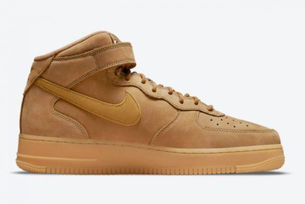 2021 Best Selling Nike AF1 Air Force 1 Mid Wheat DJ9158-200-1