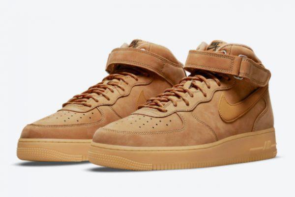 2021 Best Selling Nike AF1 Air Force 1 Mid Wheat DJ9158-200-2