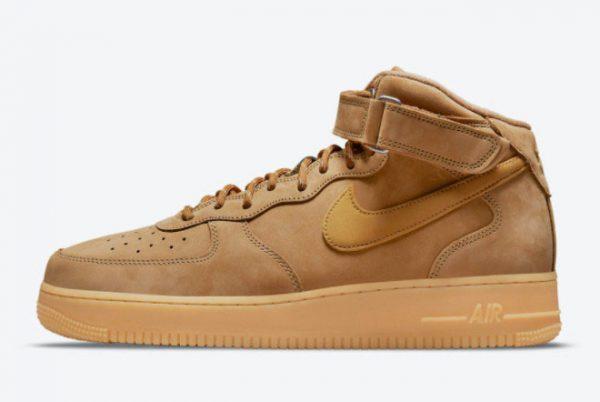 2021 Best Selling Nike AF1 Air Force 1 Mid Wheat DJ9158-200