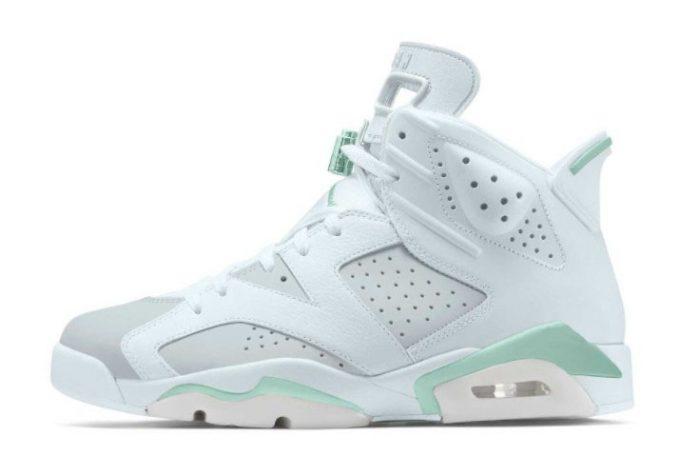 2022 Air Jordan 6 Tiffany Blue White Pure Platinum-Mint Foam Girl Shoes