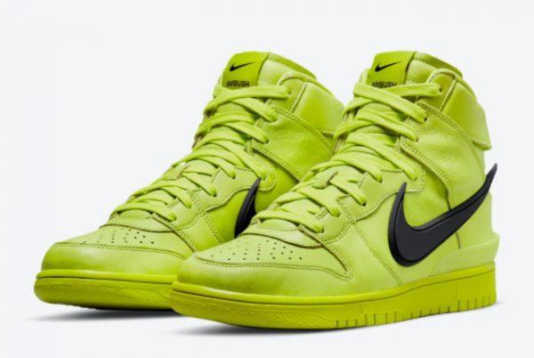 Ambush x Nike Dunk High Flash Lime Sneakers For Sale CU7544-300-2