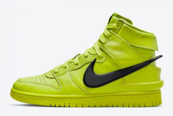 Ambush x Nike Dunk High Flash Lime Sneakers For Sale CU7544-300