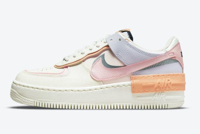 Grade School Nike Air Force 1 Shadow Pink Glaze-Orange Chalk CI0919-111