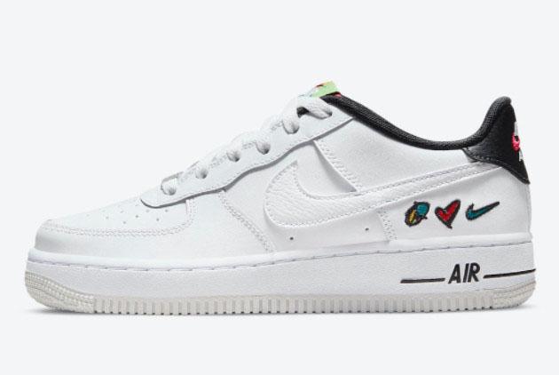 Cheap Sale Nike Air Force 1 Low Peace, Love, Swoosh DM8154-100