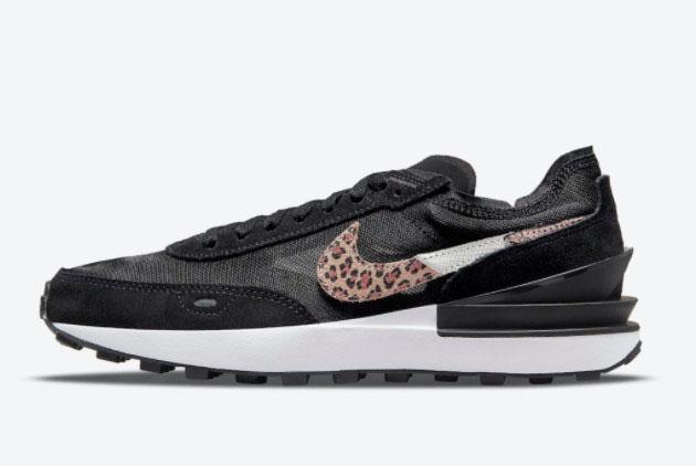 Nike Waffle One Leopard Black Multi Color New Sale DJ9776-001
