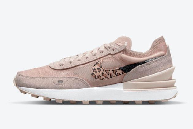 Nike Waffle One Pink Leopard Lifestyle Shoes DJ9776-200