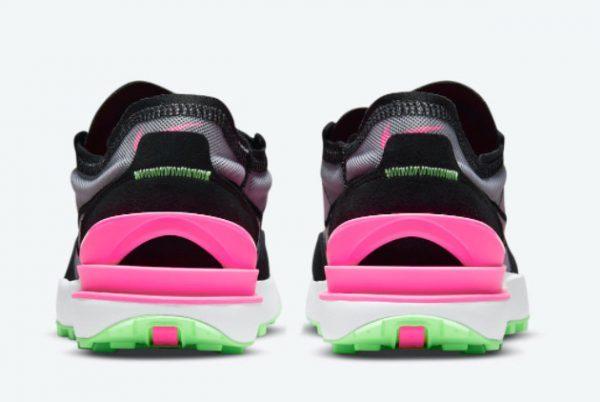 Cheap Nike Waffle One Black Neon Green-Pink DM8143-100-2