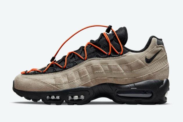 Nike Air Max 95 Khaki/Black-Total Orange Online Sale DO6391-200