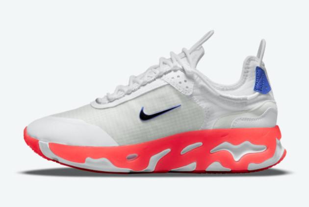 Nike React Live White Bright Crimson For Sale CV1772-103