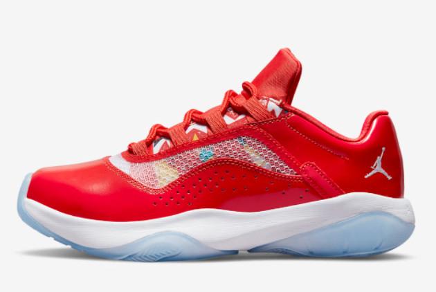 2021 Air Jordan 11 CMFT Low GS Barcelona Shoes DQ0928-600