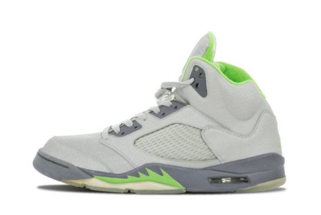 2022 Release Air Jordan 5 V Retro Green Bean Sneakers