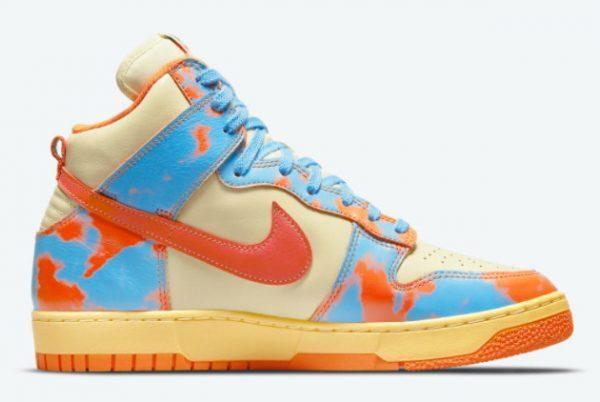 Nike Dunk High 1985 Orange Acid Wash Sneakers DD9404-800-1