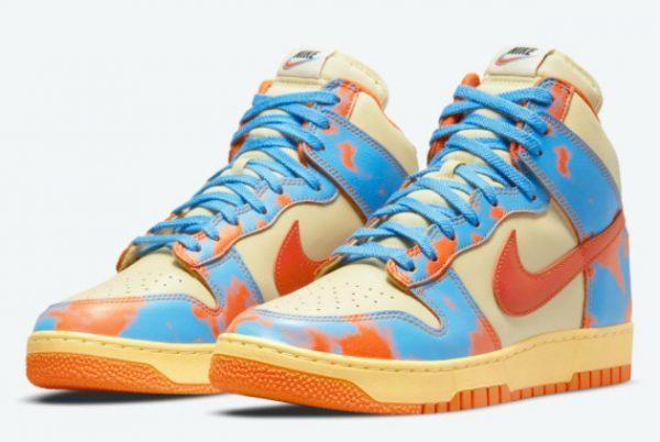 Nike Dunk High 1985 Orange Acid Wash Sneakers DD9404-800-2